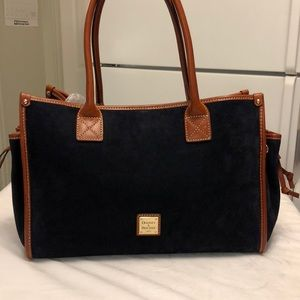 Dooney and Bourke Navy Blue Suede Tote